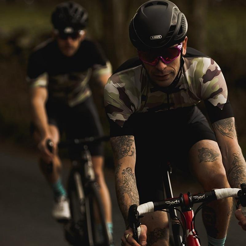 Paria camuflaje del desierto ropa de montar MTB 2019 verano ciclismo jersey manga corta hombres negro RBX bicicleta de carretera camisa de alta calidad