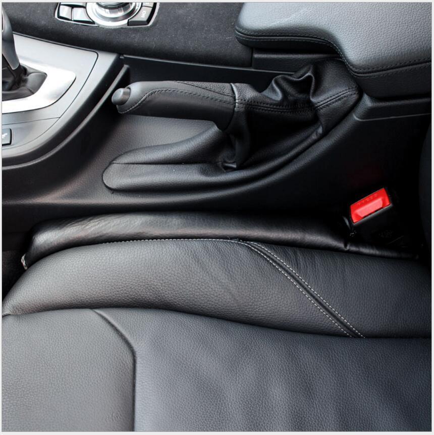 Relleno Universal para hueco de asiento de coche de piel sintética + almohadilla de descanso para asientos de coche de esponja acolchado suave para AUDI A6 A4 A8 para BMW VW