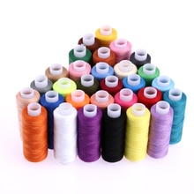 30 couleurs différentes 250 Yard Polyester broderie fils à coudre Machine à coudre fil artisanat bricolage couture Quilting fournitures