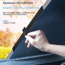 Car Window Sunshade Retractable Foldable Windshield Sunshade Cover Shield Curtain Auto Sun Shade Block Anti-UV Car Window Shade