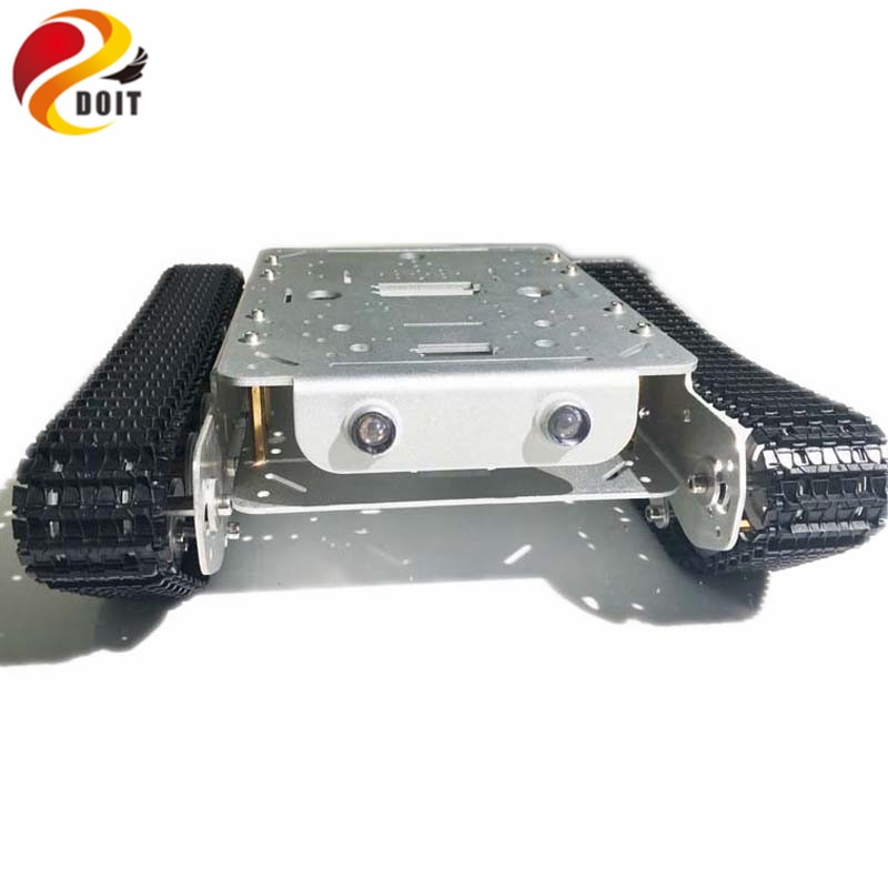 Shock Absorption TSD200 4WD Metal Crawler Remote Control Tank Car Chassis Aluminum Alloy Wheels Smart Robot Toy for DIY enlarge