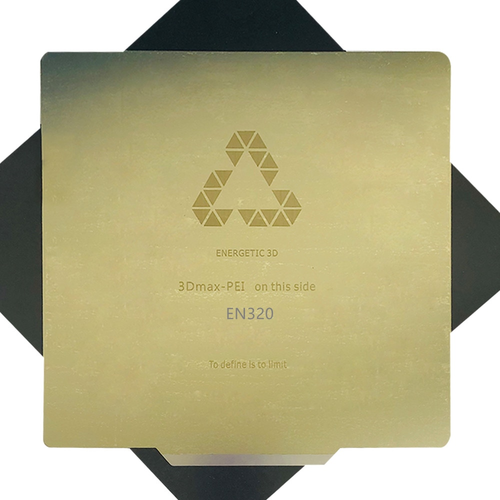 ENERGETIC-طابعة TEVO Nereus ثلاثية الأبعاد ، سرير ساخن ، لوح فولاذي ربيعي مرن 320 × 320 مللي متر ، PEI مع ملصق مطبوع PLA well