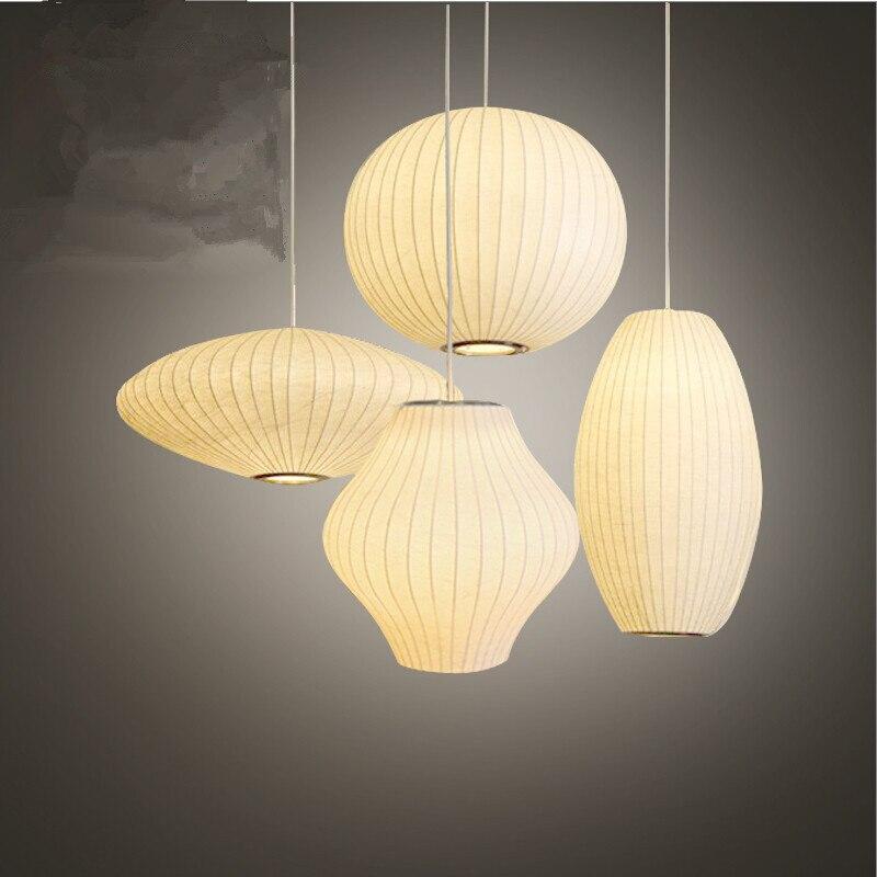 مصباح معلق من القماش الحريري الأبيض ، مع صحن فقاعي ، لغرفة الطعام ، ومتجر الملابس ، ومتجر المطعم