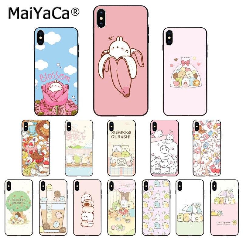 MaiYaCa Cartoon sumikko gurashi Kunst beste freund Telefon Fall für iphone SE 2020 11 pro X XS MAX 66S 7 7plus 8 8Plus 5S XR