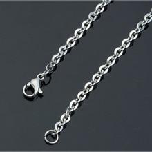 1 pièce 1.2mm-4mm acier inoxydable lien chaîne bricolage colliers fabrication de bijoux 40cm -90cm chaîne avec fermoir à homard