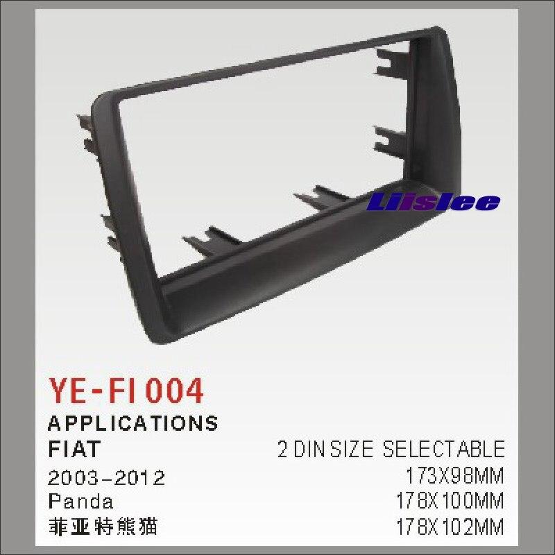 De reequipamiento de coche DVD GPS de navegación marco para Fiat Panda 2003-2012 2 DIN DVD CD Panel Dash Kit de placa de Radio de Audio ABS Fascia