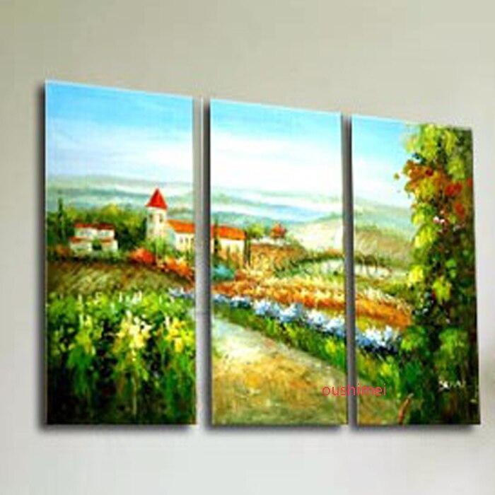 Paisaje hecho a mano envío gratis Venta caliente pintura de pared moderna decoración del hogar cuadro pintura sobre lienzo para sala de estar