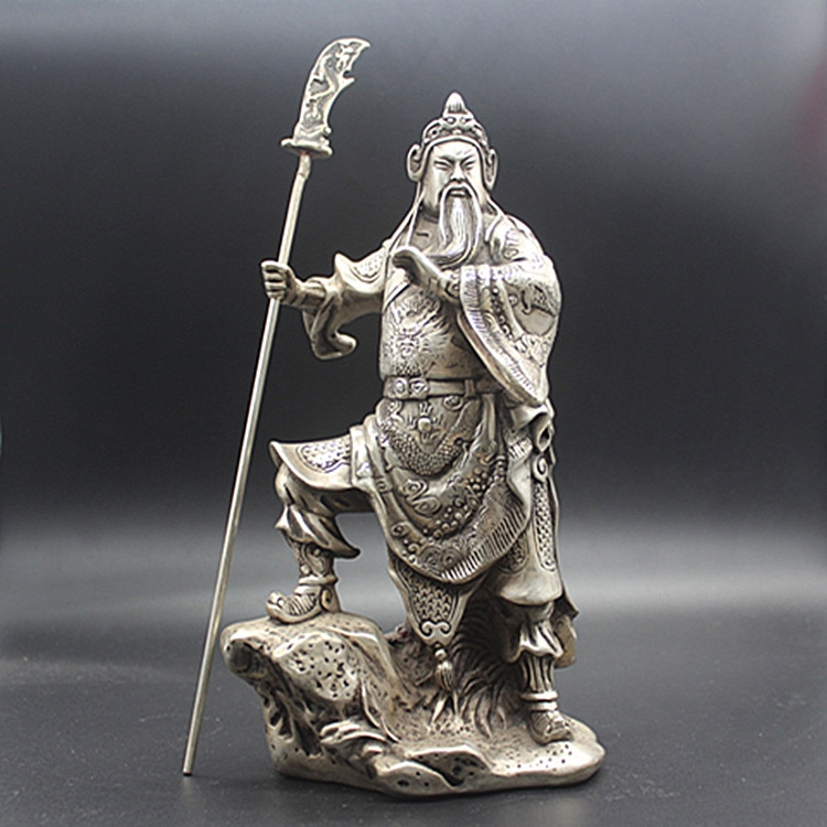 Xuandenian na Dinastia Produção Ming Cobre Branco Puro Suporte Guan Ornamentos Públicos Coleções Antigas Decorações