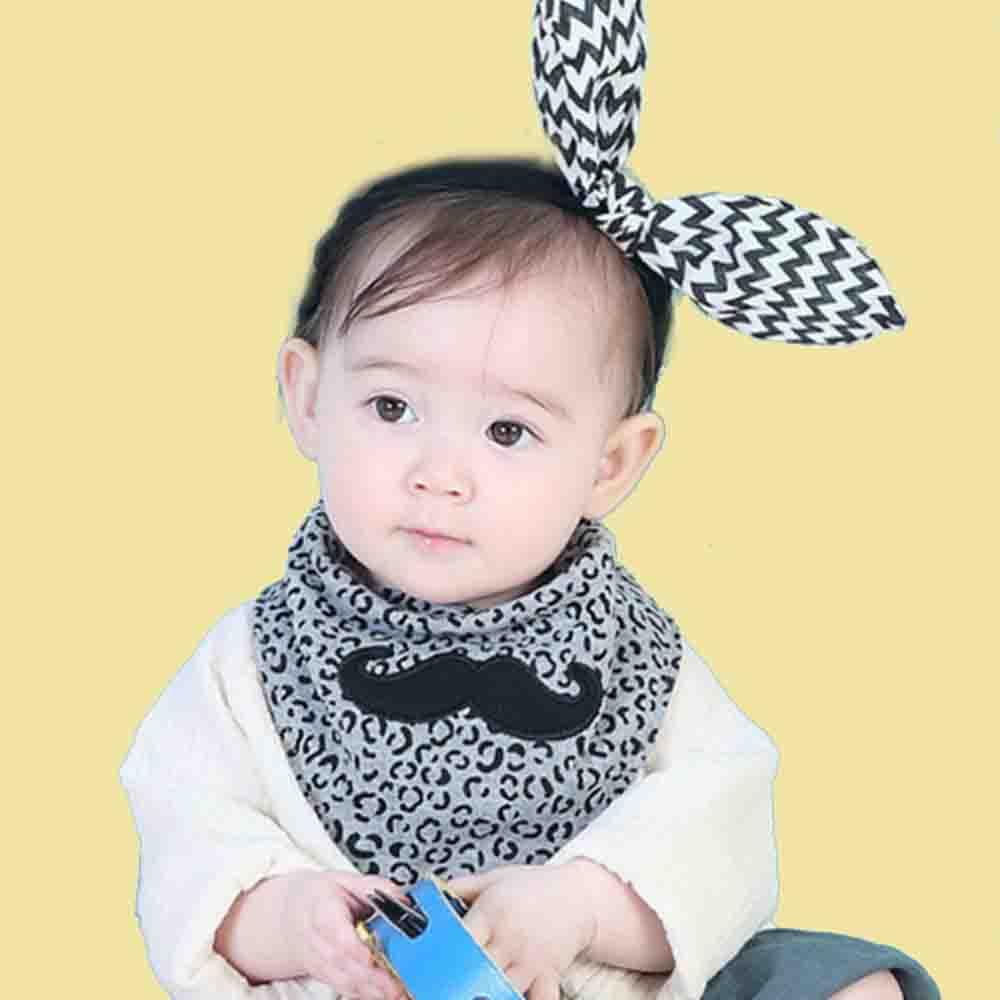 Baberos Bandana de doble uso para bebé de talla grande, ropa de algodón para niños y niñas con estampado de animales a la moda