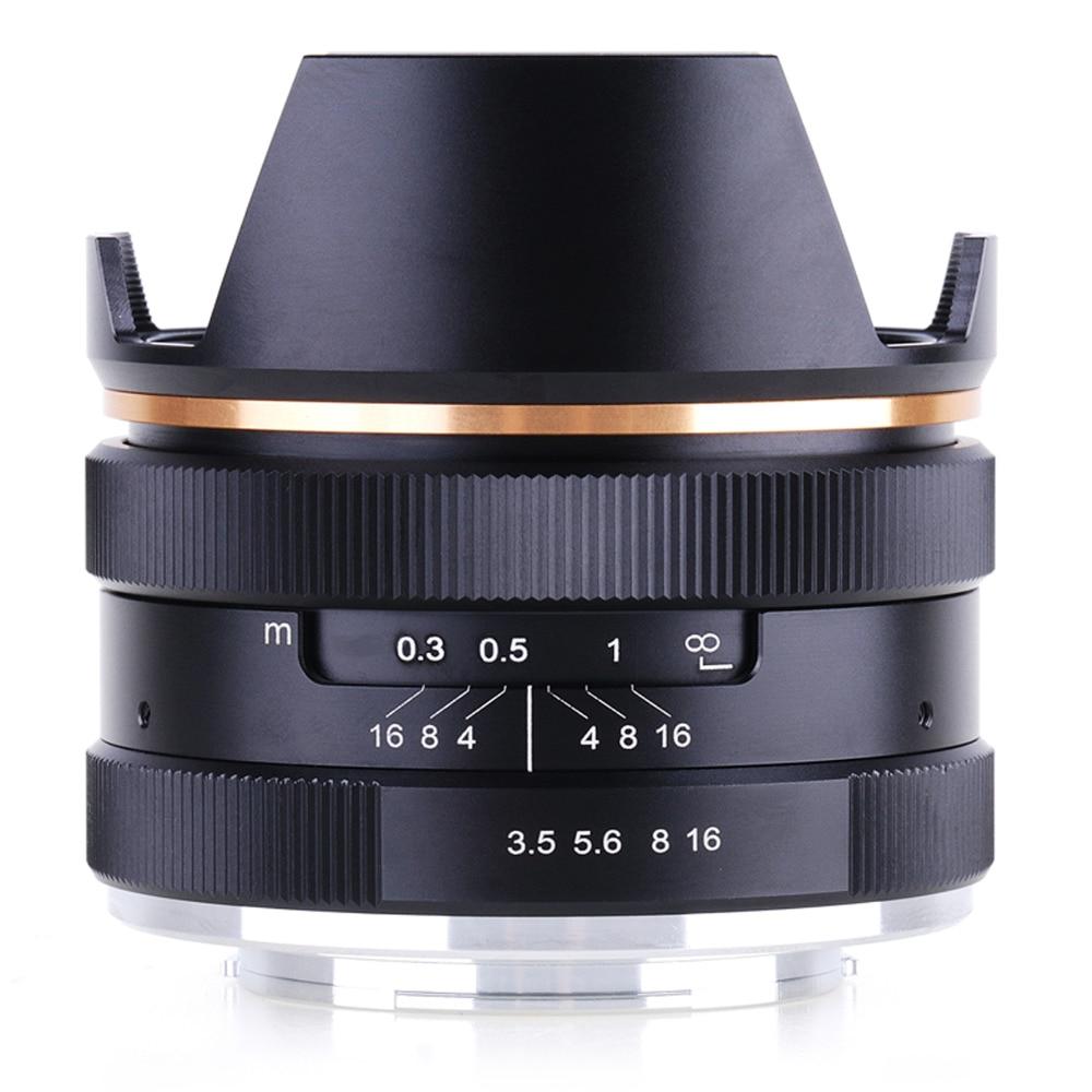 14mm f/3.5 Wide Angle Manual Prime Lens for Sony Fujifilm Olympus Canon Panasonic Mirrorless Camera KAXINDA