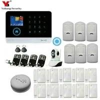 Yobang-securite domestique sans fil   GSM  systeme dalarme GPRS  APP telecommande RFID  carte bras