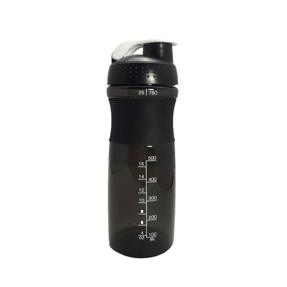 Botella Mezcladora de proteína deportiva con bola mezcladora de leche y proteína en polvo, botella de agua para gimnasio, bicicleta al aire libre de BPA