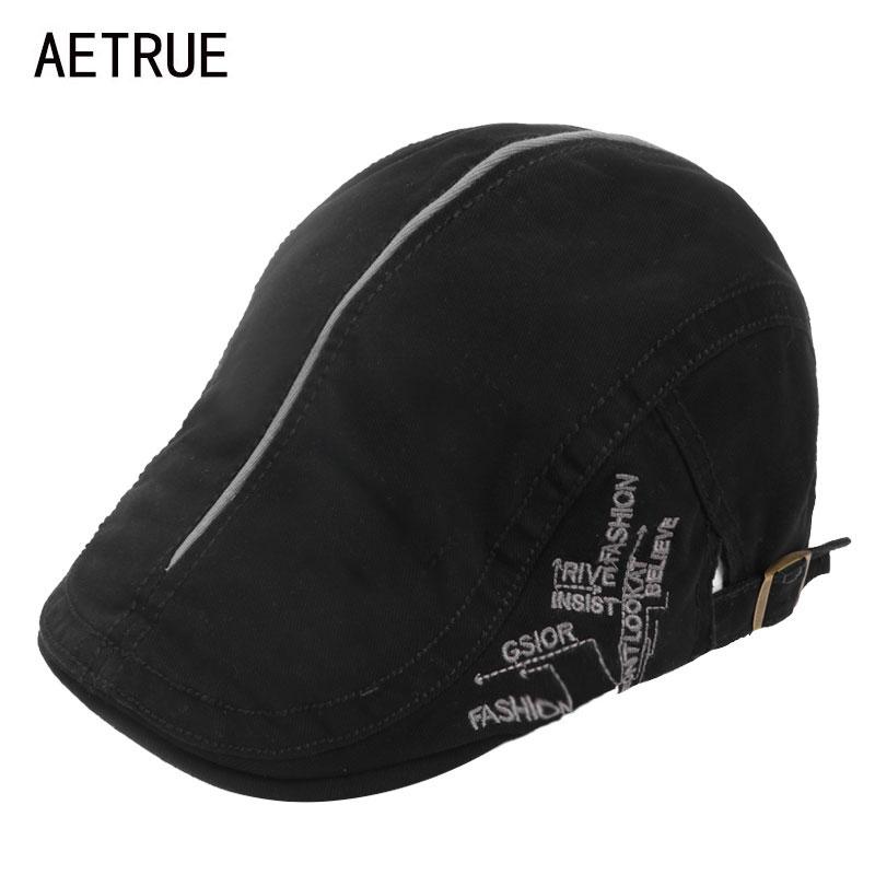 AETRUE Fashion Berets Hats Men Summer Berets Caps For Men Women Casquette Visor Cap Peaked Cotton Newsboy Male Winter Visors Hat