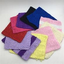 """ Elastic Crochet Chest Wrap 20*23cm Girl Fabric Knit Headbands Tutu Tube Tops DIY Children Skirt Dress Accessories Gift"