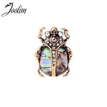 JOOLIM مجوهرات بالجملة/بيتل الجمجمة بيان حلقة حلقة كبيرة مجوهرات الأزياء بالجملة