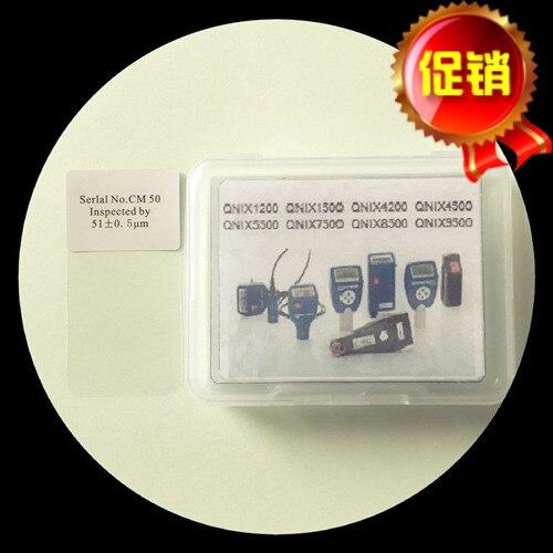 Medidor de espesor de recubrimiento hoja de calibración estándar pieza de prueba de alta precisión espesor de la película de calibración 50um