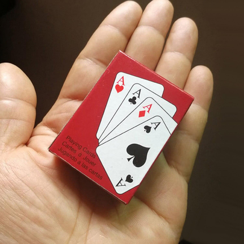 Paquete de 5 Mini cartas de póquer de papel portátiles, baraja de póquer mágica, juego de cartas para juego de póker, herramienta de trucos de magia clásicos, suministros de ocio para niños y adultos
