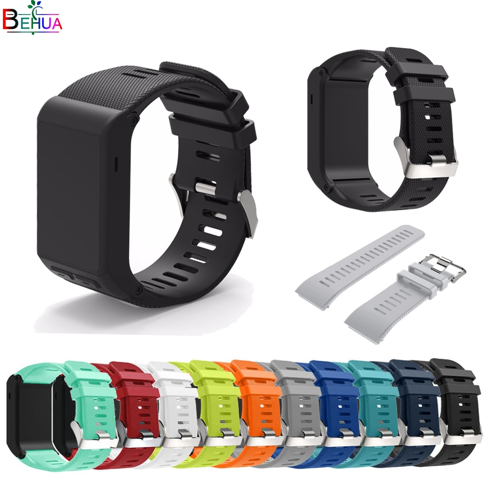 Sport silicone strap For Garmin vivoactive HR watch band Replacement Bracelet Strap bands Accessories