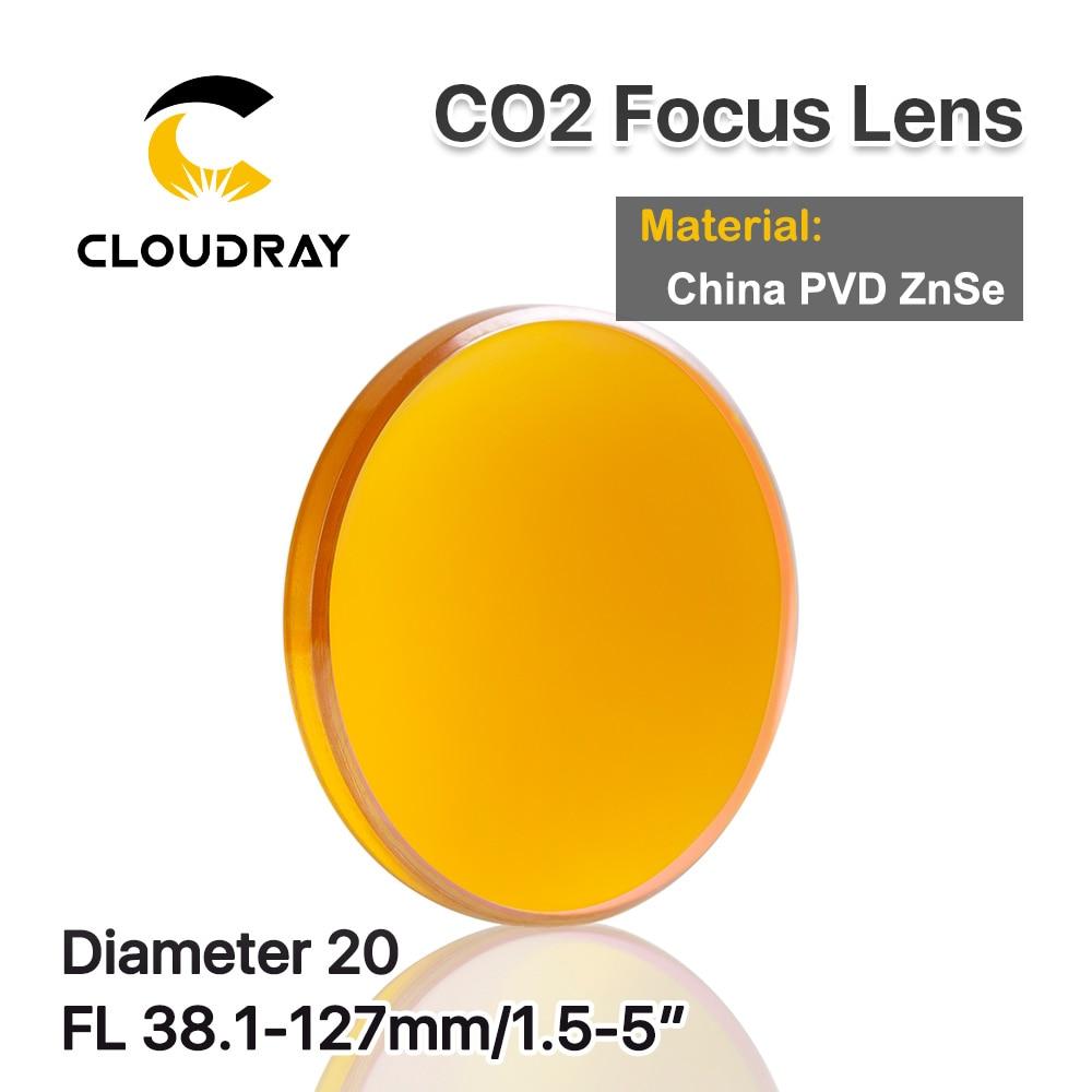 """Cloudray Cina ZnSe Lente di Messa A Fuoco di Diametro. 20 millimetri FL 38.1-127 millimetri 2.5 """"per CO2 Incisione Laser Macchina di Taglio da Altri Trasporto Libero"""