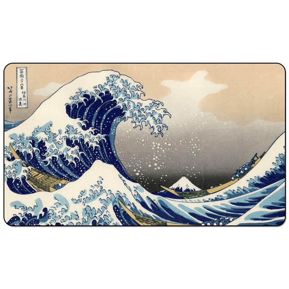The Great Wave off Kanagawa 60x35cm Magic Board Game Playmat Great Wave Playmats for Board Game table mat