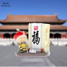 Chine Palais Musée Souvenir Qing Empereur Kangxi Bénédiction Action Figure Dorigine Mini Résine Poupées Porte-Plume Cadeau collection