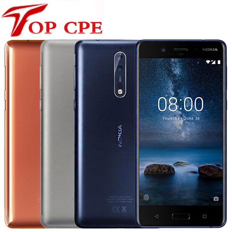 Teléfono Inteligente Nokia 8, versión Global, teléfono móvil Original con 5,3 pulgadas, procesador Snapdragon 835, Otca core, 4GB RAM, 64GB ROM, cámara de 13,0 MP, Android 4G LTE