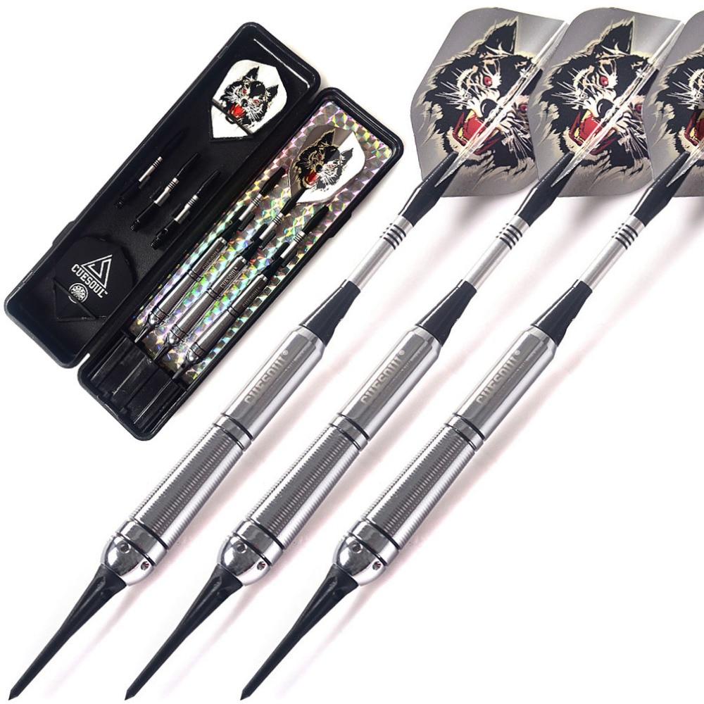 Cuesoul New Soft Tip Darts 3 Complete Darts 16-gram Barrels (The Sky Wolf Series) cuesoul 21g professional darts 90
