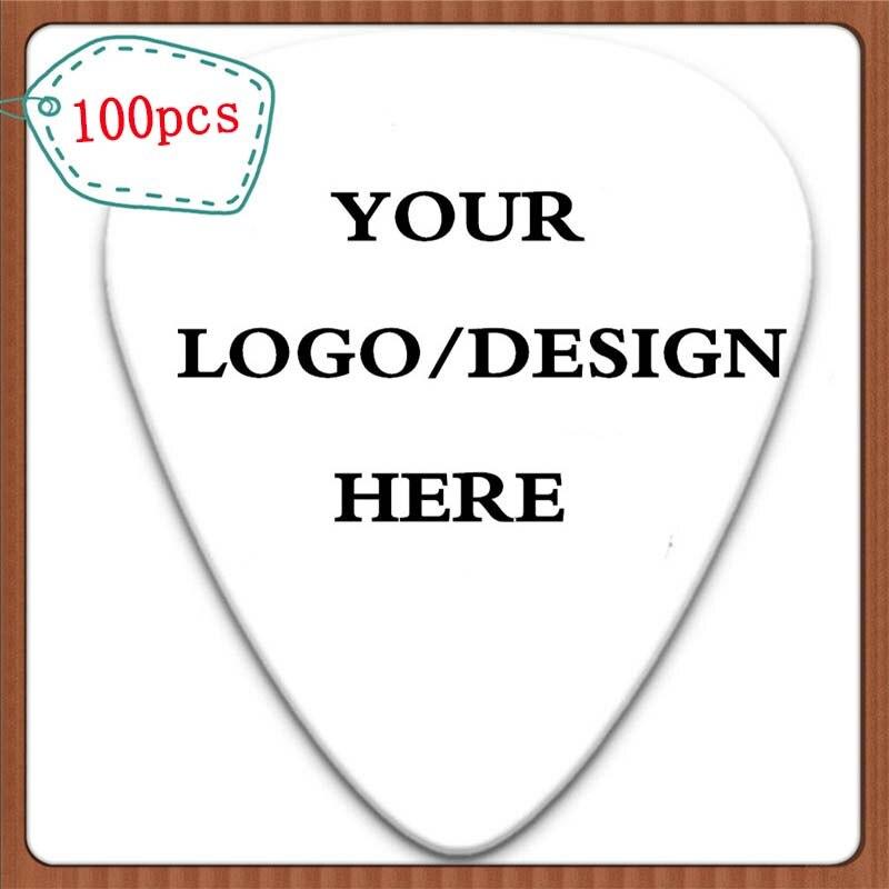 100 Uds personalizado púas para guitarra de celuloide hacer su propio logotipo y diseño de impresión de doble cara con envío gratis