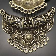 GraceAngie 3pcs Antiqued Style Bronze Tone Alloy Fashion Charm Connector Decor Jewelry AccessoriesHot  63*44mm 03160