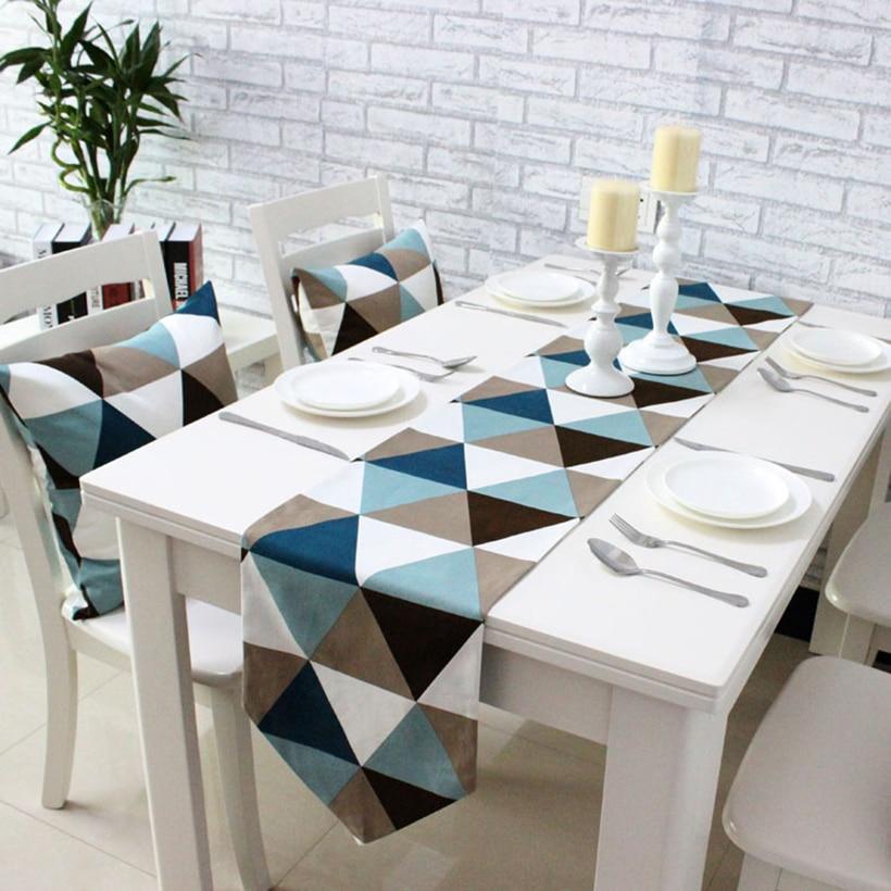 Camino de mesa de comedor Simple y moderno manteles individuales tela de lujo mesa de centro bandera cama corredor