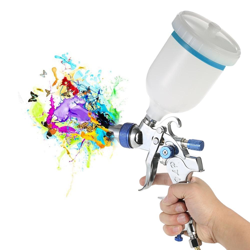 Kit de aerógrafo, HVLP pistola de aire, rociador de pintura de alimentación por gravedad, Juego de cepillos de aire, acero inoxidable 1,4/.7/2.0mm, boquilla para pintura de detalles de coche
