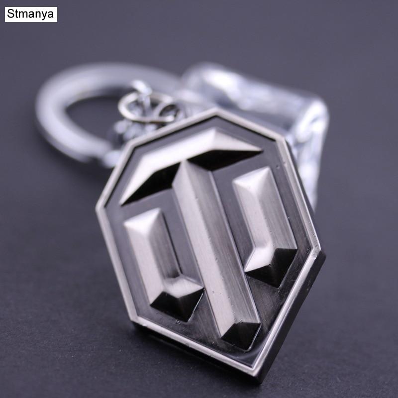 Hot Sale Llaveros Metal keychain Metal World of Tank Key Chain Chaveiro Keyring WOT Key Ring For Men gift wholesale #17064