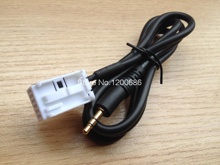 Arnés de cable de entrada de Audio auxiliar especial actualizado para el nuevo logo 307/408/La Sega/CD triumph coche original