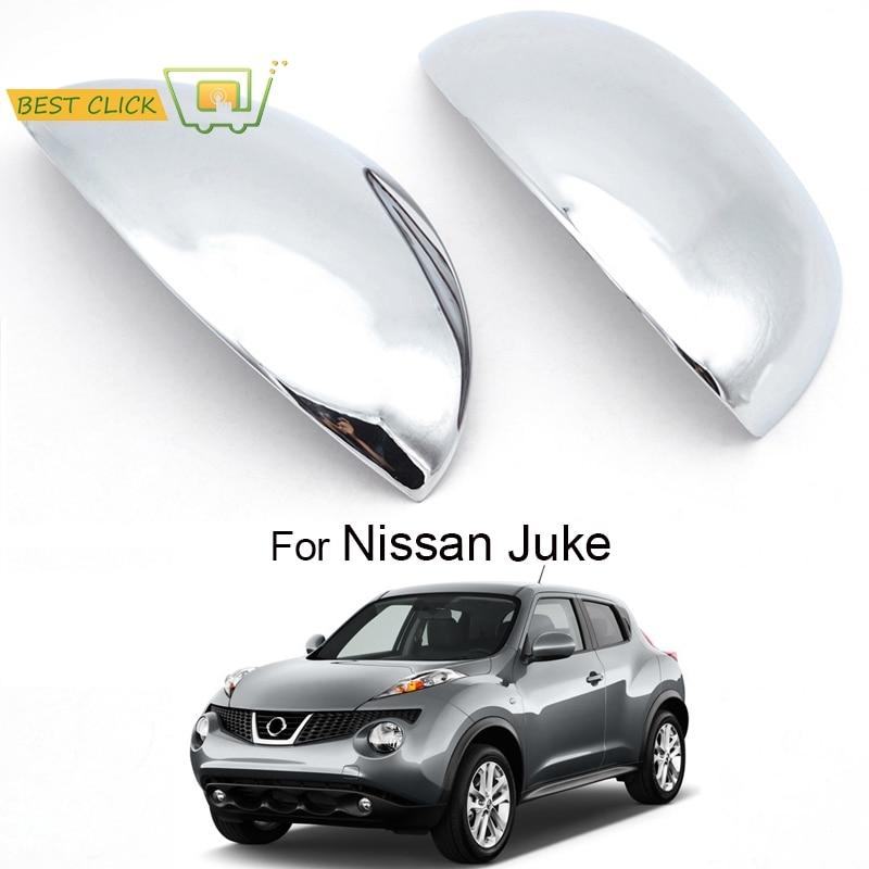 MISIMA 2Pcs Exterior Accessories Door Side Mirror Chrome Trim Covers Rear View Cap For Nissan Juke 2011 2012 2013 2014
