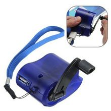 Chargeur durgence à remontage manuel   Dynamo manuel, pour MP3 MP4 Mobile USB PDA, batterie externe pour téléphone, charge durgence