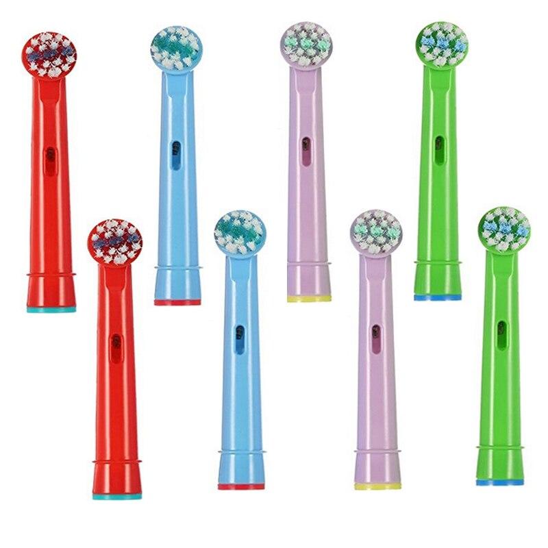 8 pièces eb-10a enfants génériques têtes de brosse de rechange sonique électrique, pour brosse à dents vitalité D12.513 3d blanc/oral b 5000