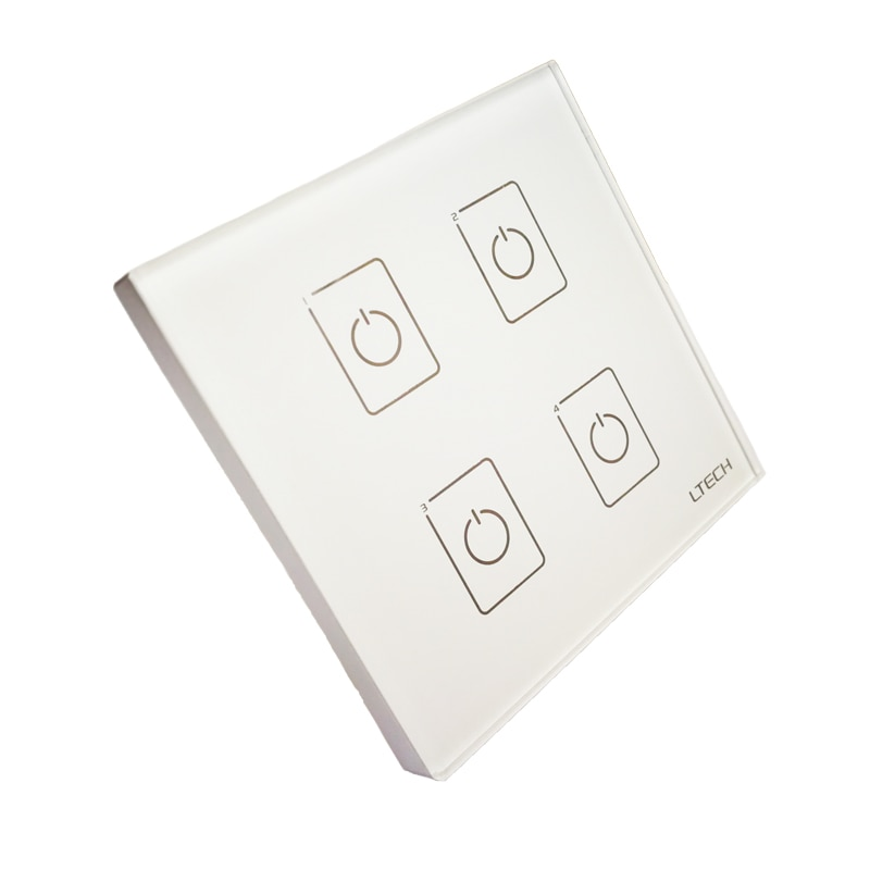Neue EDA4 Wand Montieren Touch Panel 4CH 4 Kanal Control On/Off Schalter Dimmer LED Controller DALI CV Fahrer für LED Licht