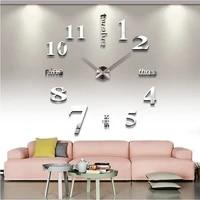 new sale wall clock clocks reloj de pared watch 3d diy acrylic mirror stickers quartz modern home decoration free shipping
