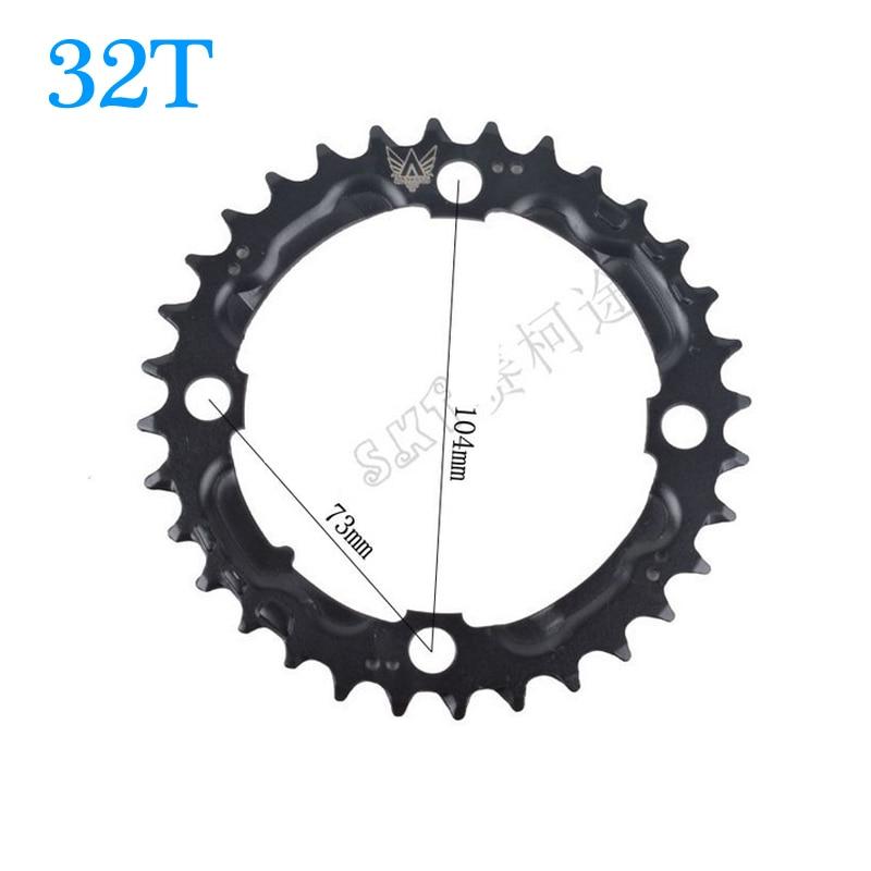 Bicicletas de montaña de 32T MTB, manivela de bicicleta de carretera, disco de bielas, rueda dentada, piezas de reparación, Envío Gratis