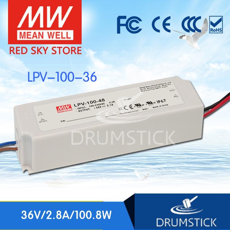 Meanwell LPV-100-36 estable, 36V, 2,8 a, meanwell LPV-100, 36V, 100,8 W, fuente de alimentación conmutada LED de salida única
