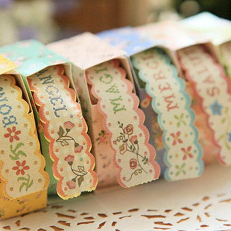 DIY PhotoAlbum Decoration Paper Sticky Box Floral Border Adhesive Paper Tape Wash Masking Tape Coffret Du Couturier Autocollant