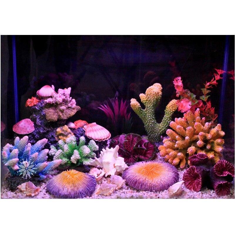 Neue 12 Arten Künstliche Aquarium Korallen Dekoration Rock Aquarium Ornament Korallen Riff Shell Stein Dekoration Aquarium Hintergrund