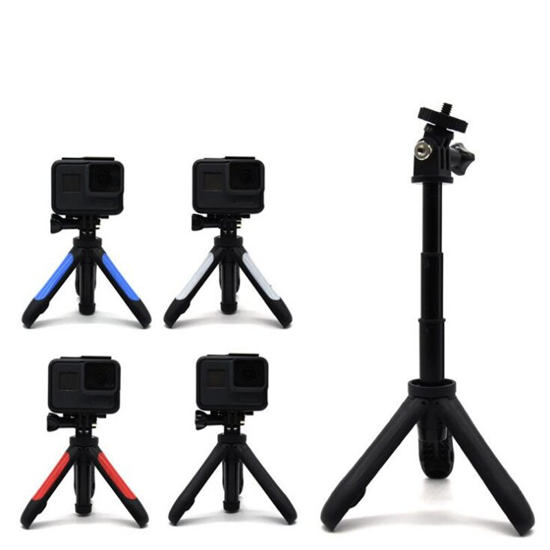 Mini trépied montage Tripode Action caméra Tripe Selfie bâton extensible monopode pour Gopro Hero 6 5 4 3 SJCAM EKEN H9 Xiaomi YI 4k
