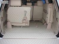 Full set car trunk mats + Rear door mat for Toyota Land Cruiser 200 7 seats 2020-2007 waterproof cargo liner mats boot carpets