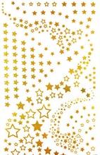 2Pcs/Lot 10*17.5cm  Women Leg Hand Body Arm Chain Star DIY Gold Tattoo Stickers Waterproof Temporary Glitter Tattoo Sticker