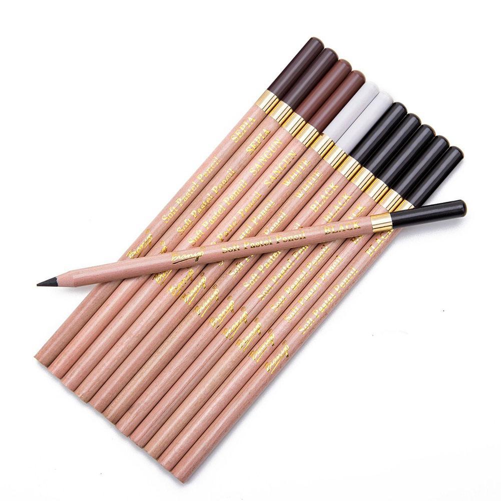Adeeing 12 Pcs 4 Cores Lápis Profissionais Lápis de Desenho Esboço Pen Set for Kids & Adultos