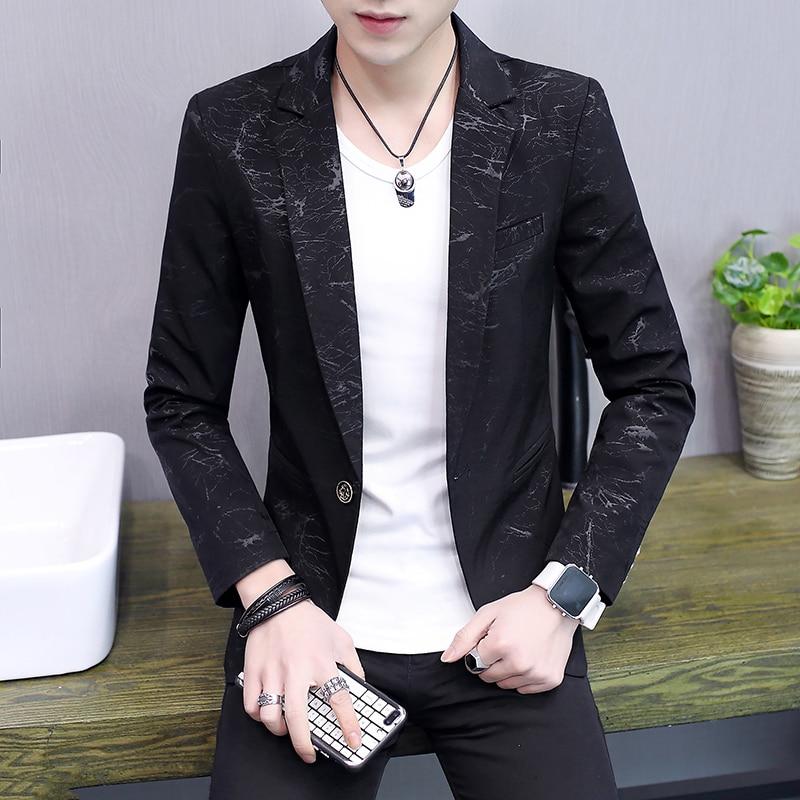 COO 2020men fall thin leisure blazer young fashion handsome printed piece blazer