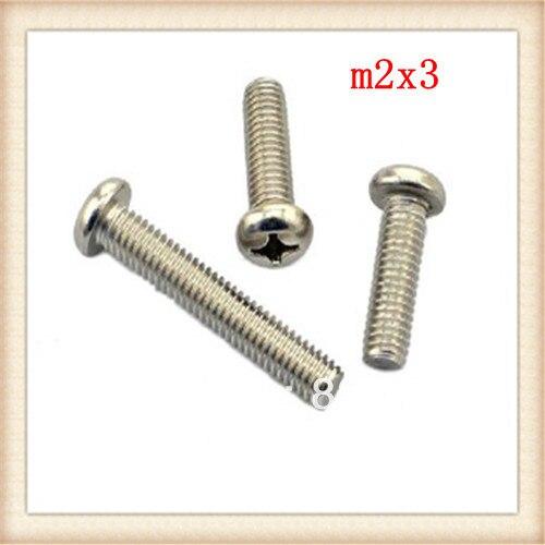 50pcs 304stainless steel phillips m2*3 screw