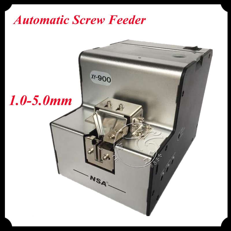 Alimentador de tornillo eléctrico automático 1,0-5,0mm tornillo ajustable que dispensa la máquina de alimentación tornillo contador herramienta XY-900