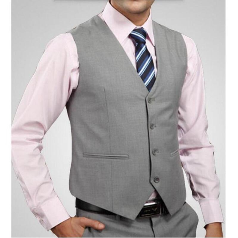 صدرية رجالية ، ملابس رسمية ، فستان عادي ، نحيف ، رقبة على شكل V ، أكمام ، مخصص ، جودة عالية ، رخيصة